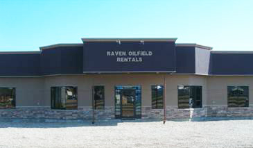 Raven Oilfield Rentals office in Fort St. John, BC